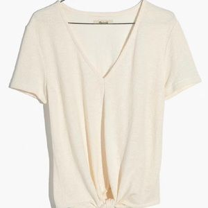 Madewell V-Neck Modern Tie-Front Top
